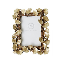 opening promotion-Resin Retro Frame Golden Ginkgo Leaf Photo Home Decorations