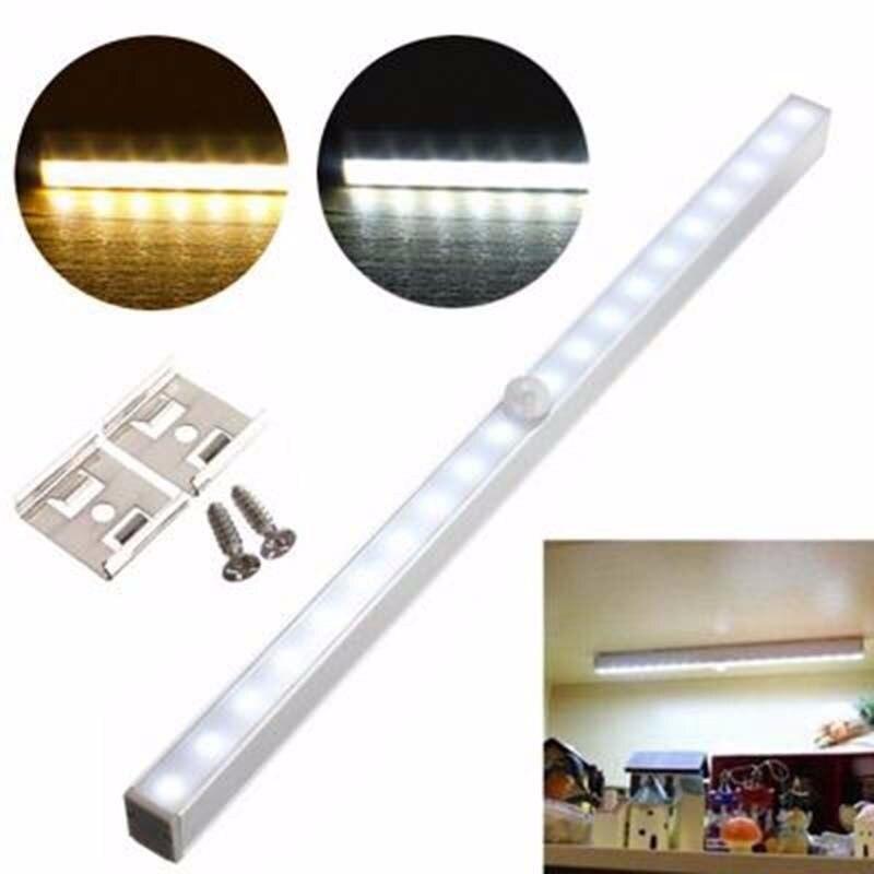 20 LED Lights Energy saving Auto Motion Sensor Wireless PIR cabinet Kitchen bedroom Wardrobe indoor Stair wall lamps