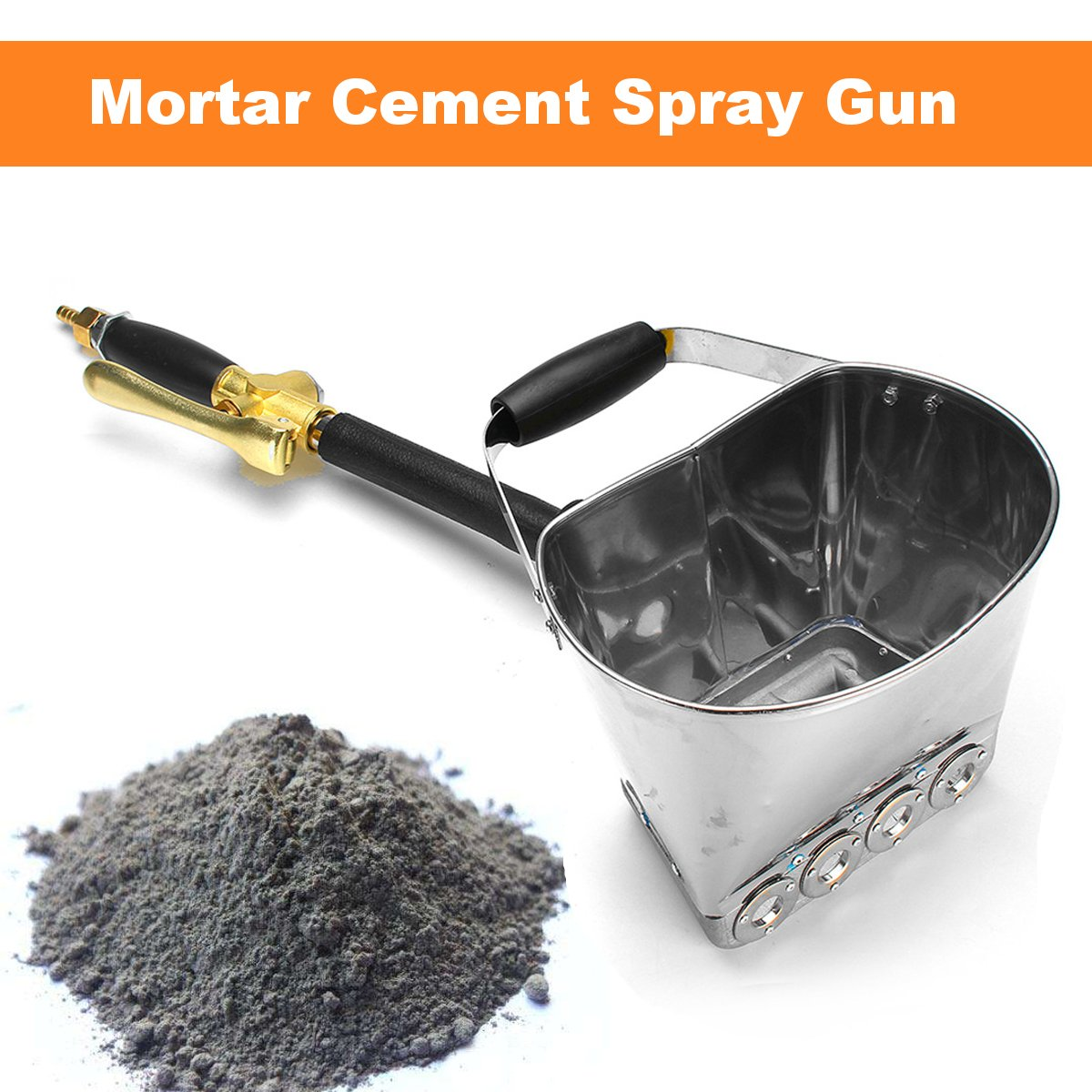 New Arrival 2019 Mortar Cement Spray Guns With Bucket Wall Sprayer Plaster Sprayer Cement Spray Stucco Plaster Sprayer ToolsNew Arrival 2019 Mortar Cement Spray Guns With Bucket Wall Sprayer Plaster Sprayer Cement Spray Stucco Plaster Sprayer Tools