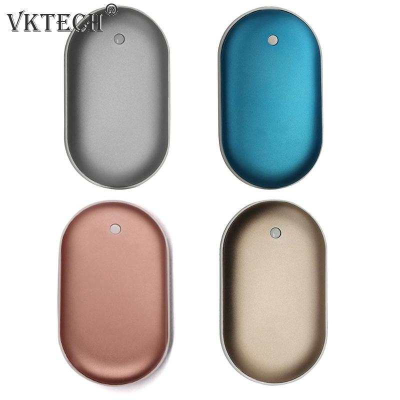 Mini USB Rechargeable Electric Hand Warmer Charging Heater Portable Aluminum Alloy Mobile Phone Charging Power Bank Gift Stove Hand Warmers     - title=