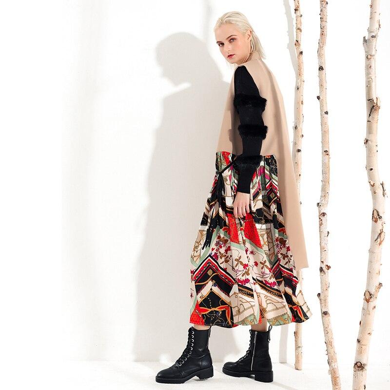 Hiver Automne Point Imprimé Manches Nouvelle Mode col Marée Sans 2018 Irrégulière De Kaki Long Khaki M31 V Gilet Femmes Lâche Eqv4xzn5
