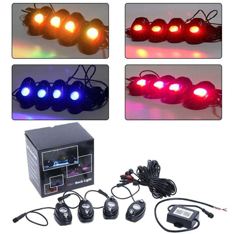Car Decorative Lamp RGB Bluetooth Control Colorful Light Auto Light emitting Diode Deck Light Chassis Lamp Atmosphere Lights