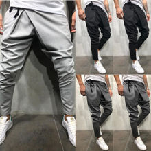 Pantaloni stile harem di Colore Solido degli uomini di modo Baggy Casual Hip  Hop Pantaloni Boho 9159d82a4154