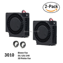 цены на 2Pcs Gdstime 30mm 3cm 3D Pritner Fan 5v 12v 24v Blower Fan Ball/Sleeve Bearing 30mm x 30mm x 10mm Blower Cooling Cooler Fan  в интернет-магазинах