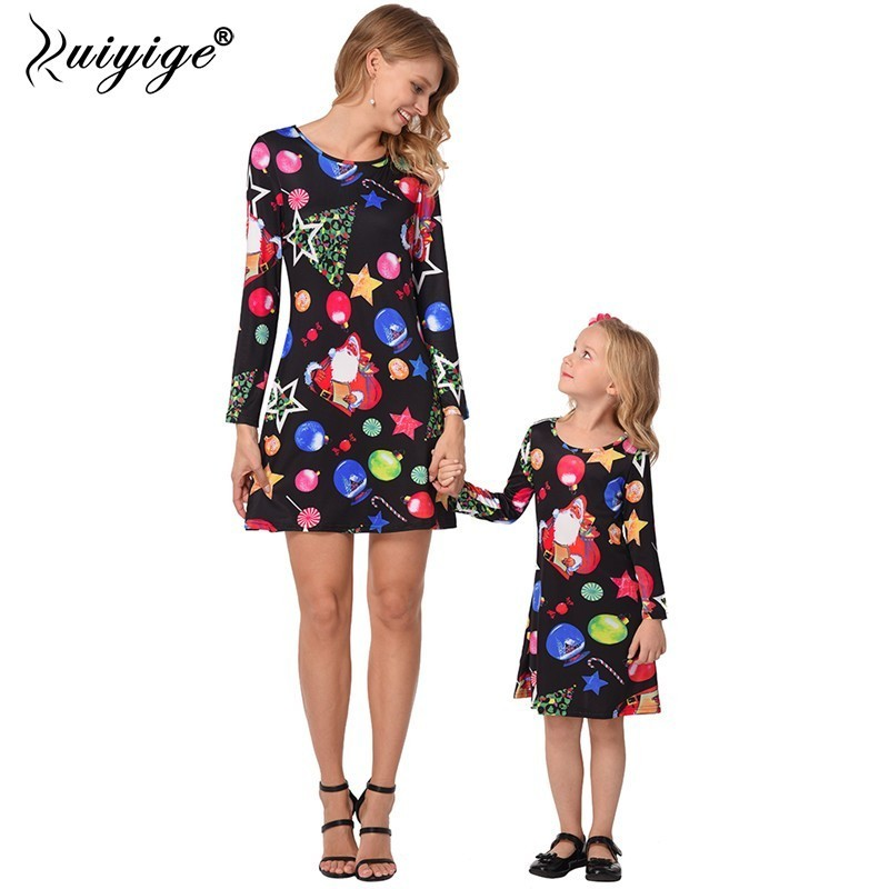 440a92c204361 Mother Daughter Dresses Christmas Clothes Family Clothing - Year of ...