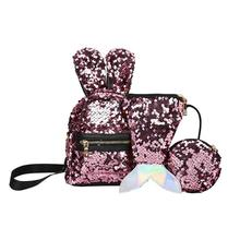 3 шт./компл. Сияющий Для женщин рюкзаки с пайетками для девочек-подростков путешествия большой Ёмкость сумки блеск рюкзак вечерние школьные рюкзаки рюкзак