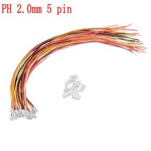 10 Pack/Set Mini Micro JST 2.0mm PH 5-Pin Connector Plug Wit