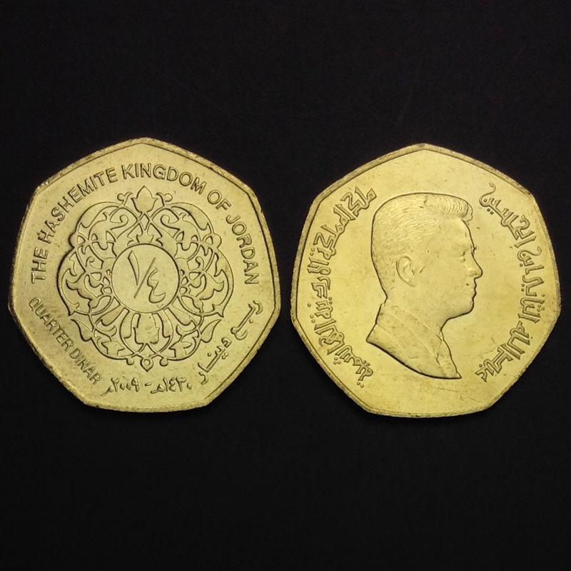 Km# 83 Single One Coin Original Jordan 1/4 0.25 Dinars 100% Real Original Genuine Coins Unc Gift Uncirculated Asia