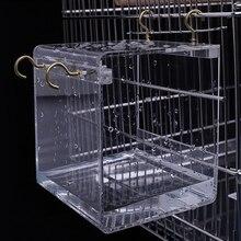 S/L акриловая подвесная клетка для птиц Легкая очистка для птиц для ванны использование клетки попугаи