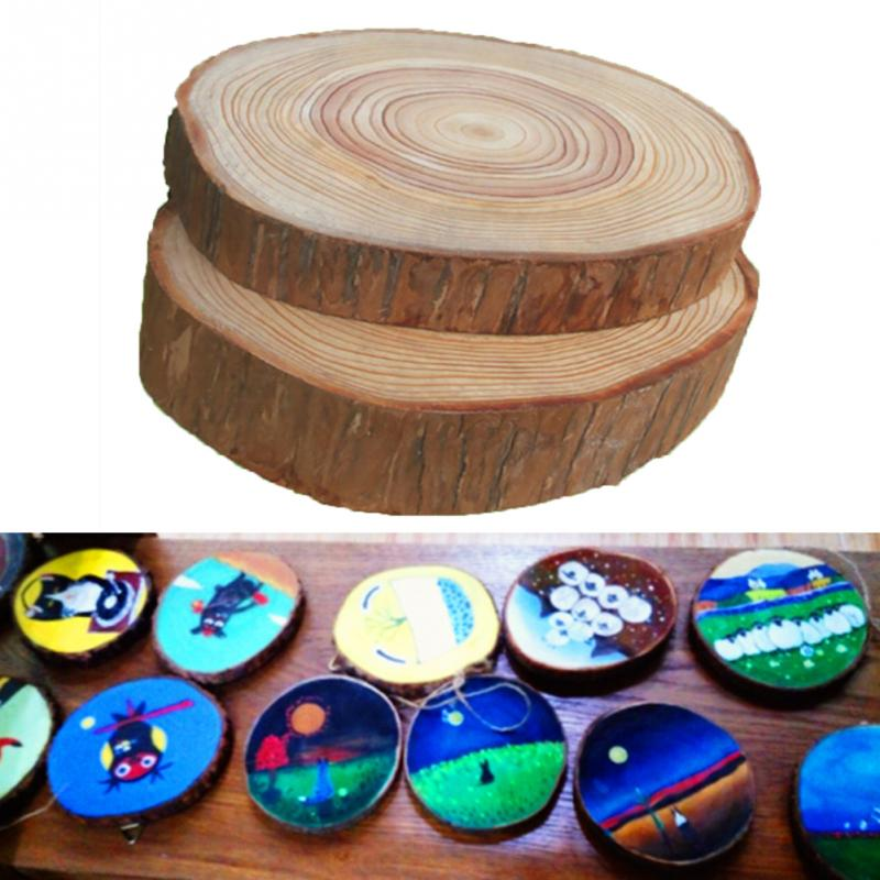 Image 2 - 30pcs Plain Wood Wooden Hearts Embellishment Blank Heart Wood Slices Discs Natural Wood Color Birch Tree DIY Crafts #125-in Party DIY Decorations from Home & Garden
