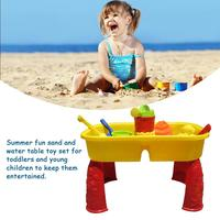 Summer Kids Fun Sand Set Beach Sandpit Table Water Outdoor Garden Play Spade Tool Toy Play Home Beach Table Toys