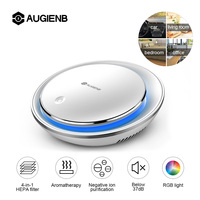 AUGIENB Mini Car Air Purifier HEPA Fresh Air Cleaner Negative Ion Purifier Oxygen Aromatherapy Removes Smoke Odors Dust Bacteria
