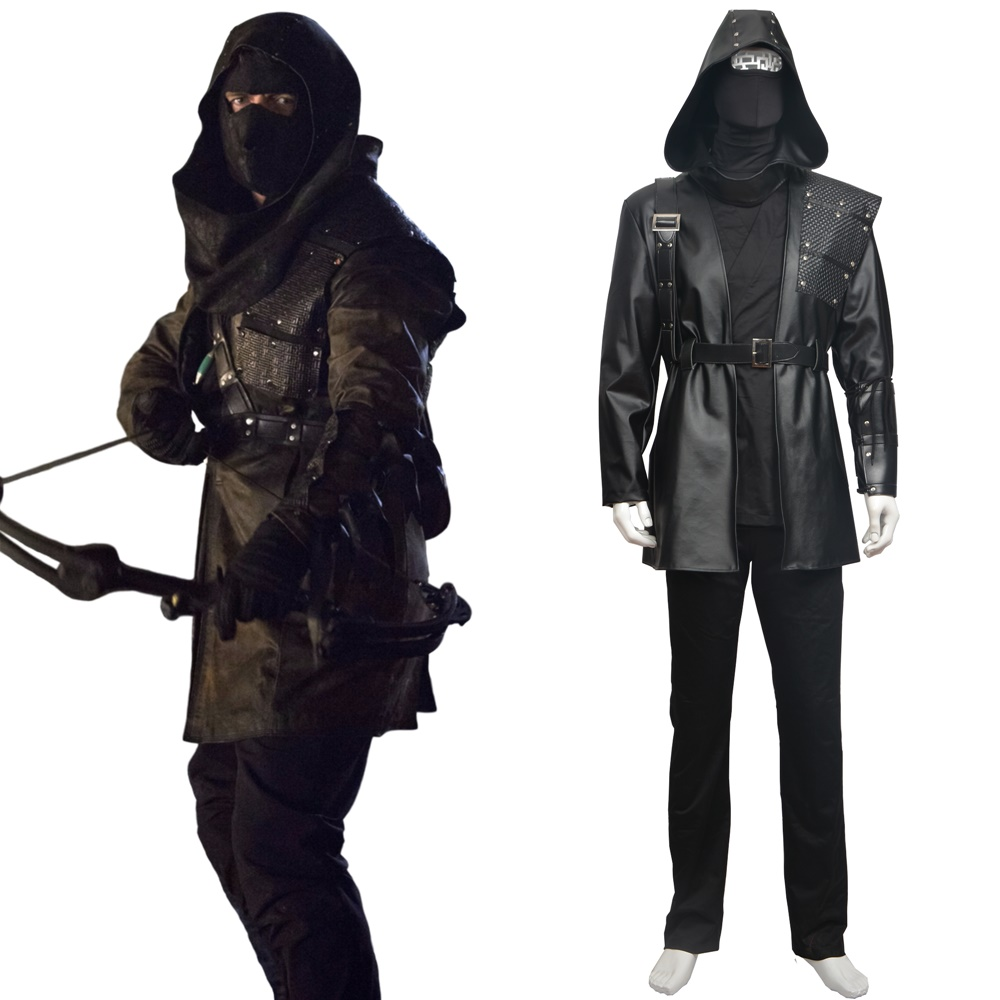 Arrow Dark Archer Malcolm Merlyn Cosplay Costume Halloween Outfit