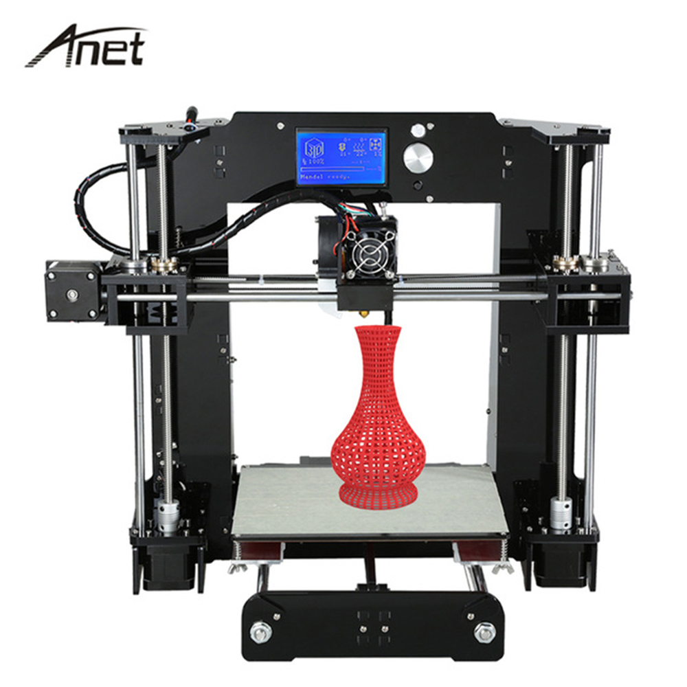 Anet A6 industrial used high resolution single extruder prusa i3 reprap 3d printer large printing size with filament