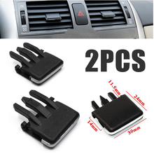 For Toyota Corolla 2pcs Car Air Vent Louvre Blade Slice Conditioning Leaf Adjust Clips Universal Black Mayitr