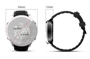 Image 2 - Lokmat reloj inteligente MK18 para hombre, dispositivo deportivo con pantalla LCD, resistente al agua, podómetros, mensajes, recordatorios, Bluetooth, natación, cronómetro para ios y Android