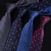 Clássico novo 100% natural gravatas de seda para homens gravata 2019 genuíno homem de seda gravata negócios azul vocacional noivo casamento festa