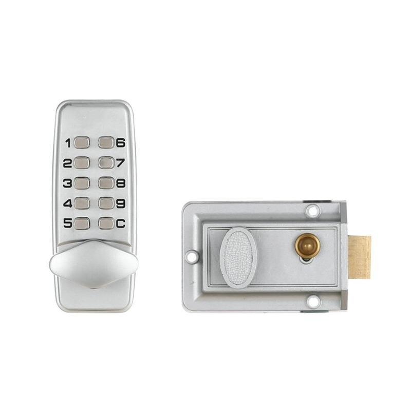 Digital Password Mechanical Digital Door Lock Push Button Keyless Code Combination Lock Set Waterproof And Rustproof