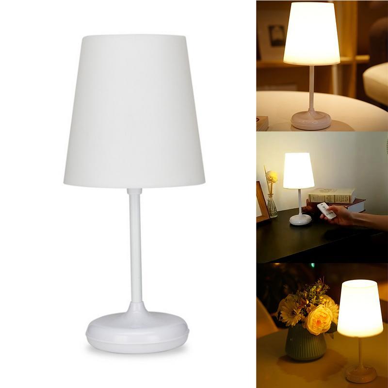 USB charge télécommande lampe de bureau maison tactile intelligente veilleuse chambre étude éclairage sans fil Simple lampe de Table