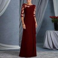 Women Lace Long dresses Formal Evening Party Dress Maxi Christmas jurkjes princess