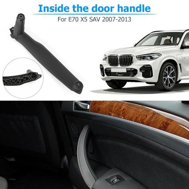 لسيارات BMW X5 E70 مقبض باب السيارة استبدال الباب الأيمن مقبض داخلي لسيارات BMW X5 E70 اكسسوارات لوحة سحب غطاء الكسوة لسيارات BMW E70 E71