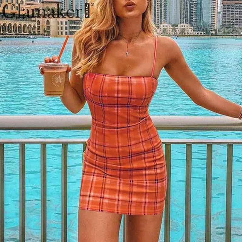 Гламурное платье в клетку вечерние летнее платье Сарафан 2019 новое облегающее тонкое сексуальное платье в винтажном стиле; Короткие мини Женское Платье vestidos de fiesta