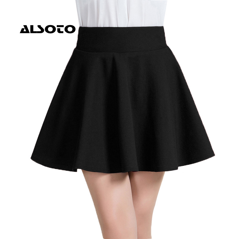 ALSOTO New Women Skirt Sexy Summer skirt Korean Version Short Skater Fashion Female Mini Skirt Women Clothing Bottoms Vadim tutu(China)