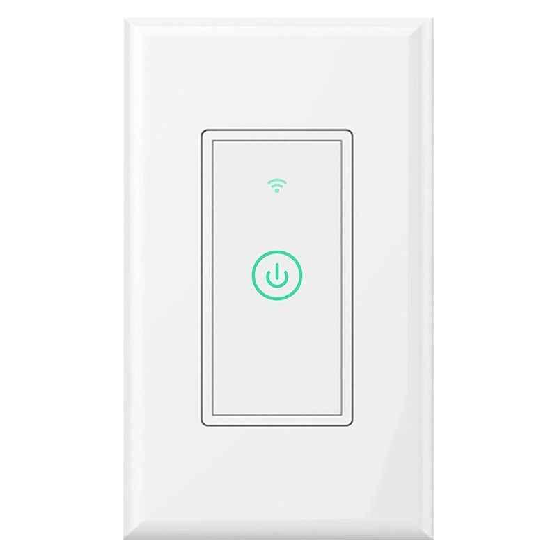Умный wi-Fi настенный выключатель света для Alexa и Google Assistant поддерживается, подходит для США/CA Настенные переключатели, пульт дистанционного управления wi-Fi