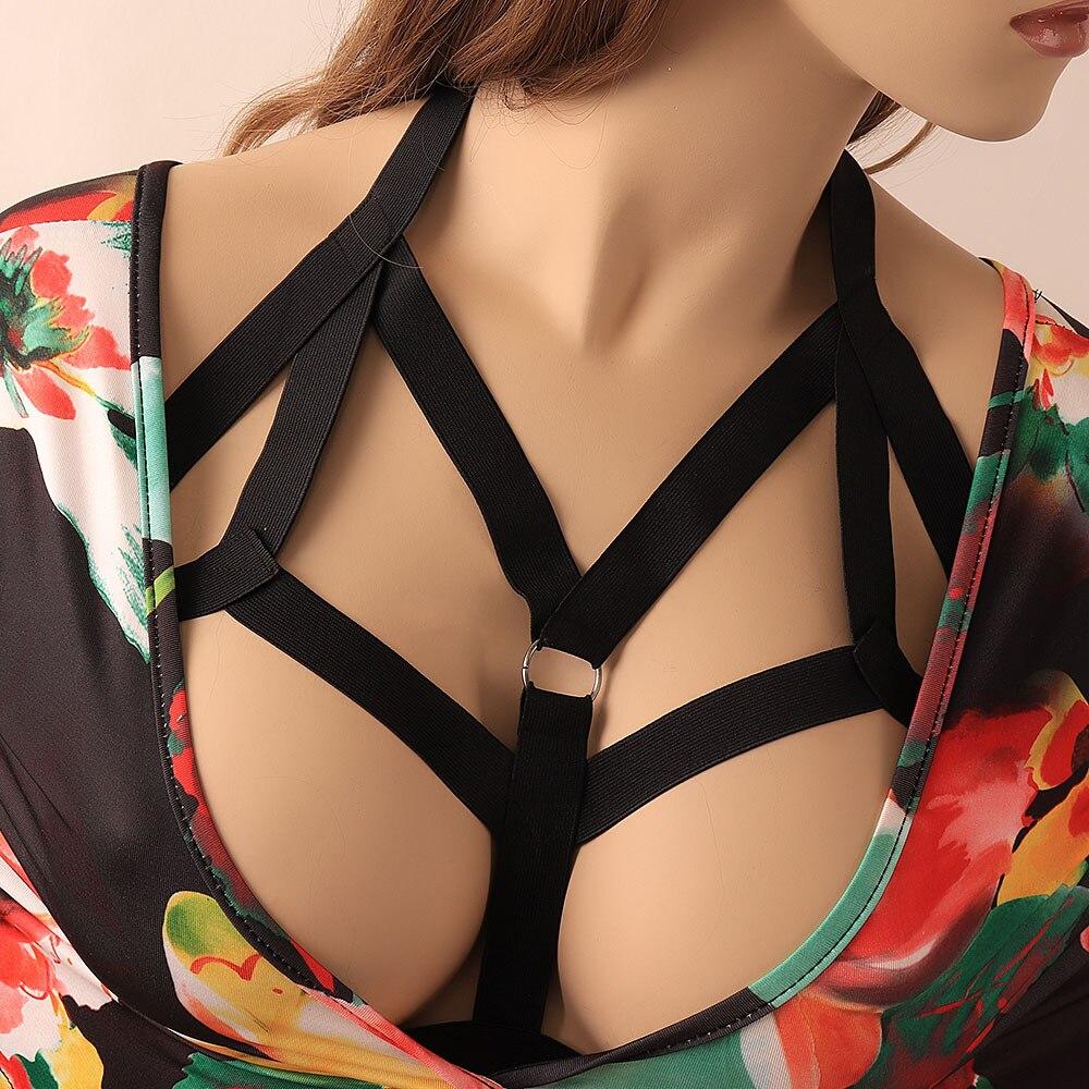 New Pattern Fashion Women Bandage Bra Sexy Strappy Bra Cage Hollow Bralette Crop Top Bustier Vest Tops Thickening   Belt