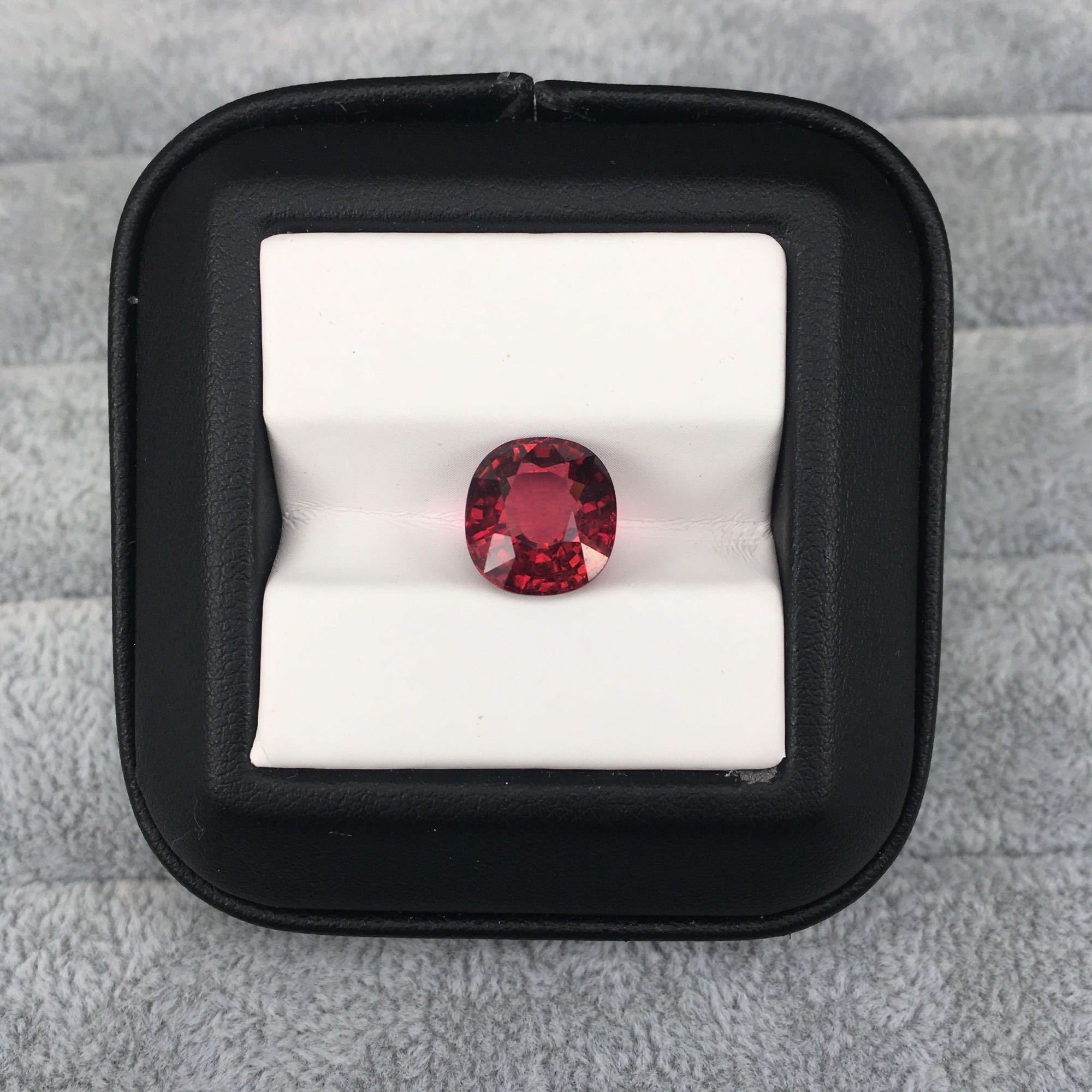 Natural red rubellite for jewelry making,5.18ct 10X11X6.8mm fat square cut loose gemstone for DIY rings and pendants mian stone
