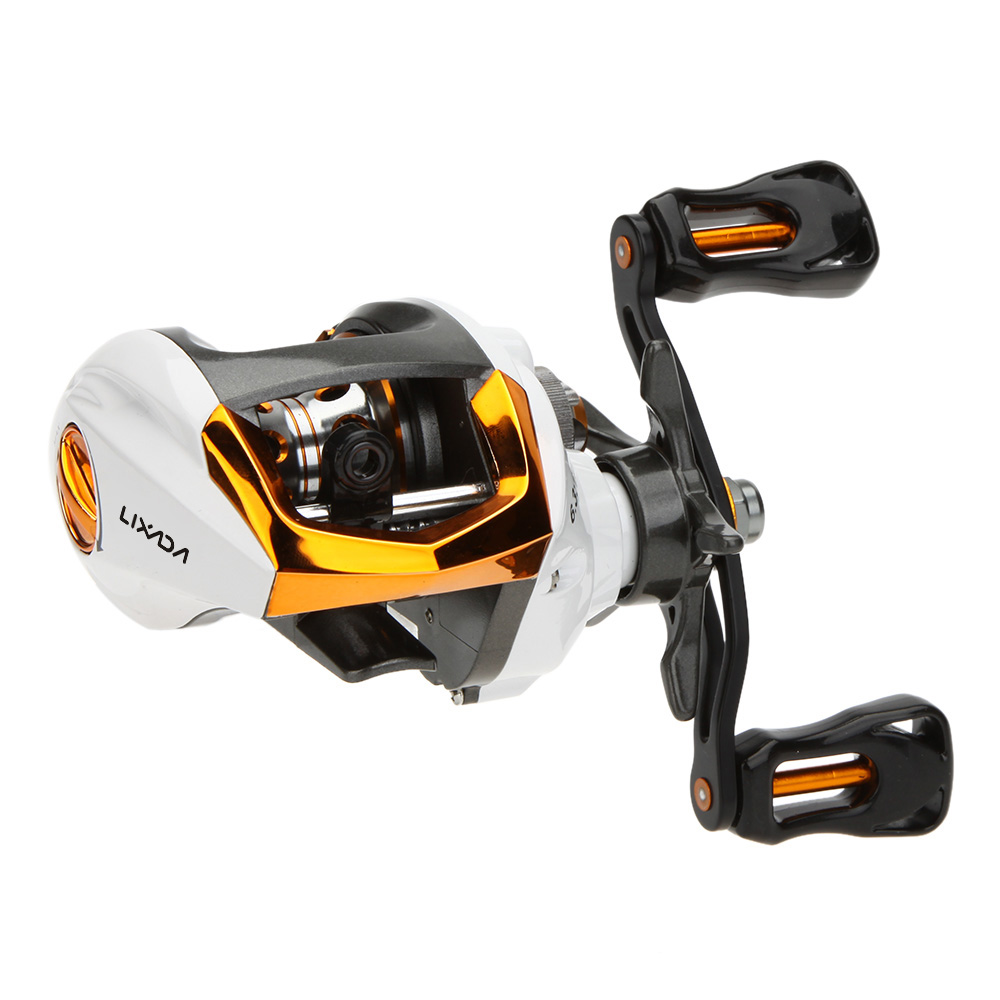 Lixada 12 1 Ball Bearings Baitcasting Reel Fishing Fly High Speed Fishing Reel with Magnetic Brake