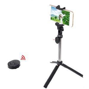 Image 2 - Mini Selfie Stick Extendable Handheld Fold Self portrait Bluetooth Holder Lightweight Travel Hiking Devices With Tripod Mount