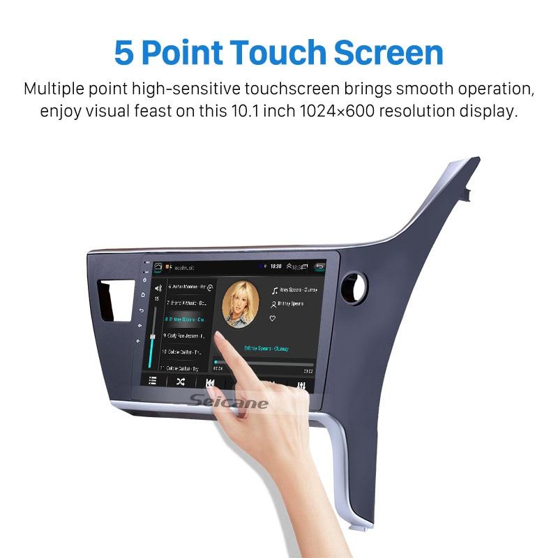 Seicane 2 Din Android 8,1 Für 2017 Toyota Corolla Rechten fahr Auto Head unit Radio GPS Navi System Unterstützung RDS Bluetooth
