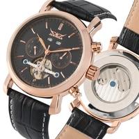 Men's Skeleton Mechanical Watch Muti-dial Automatic-self-winding Tourbillon Leather Strap Business Style Clock Timepieces reloj