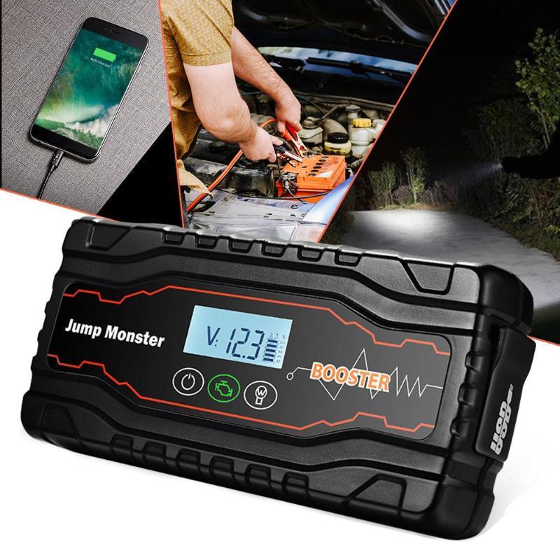 VODOOL Mini voiture saut démarreur batterie externe 12 V 3.5Ah 420A Portable voiture batterie Booster chargeur d'urgence démarrage dispositif avec lumière
