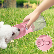 350ML Outdoor Travel Use Dog Cat With Trough Leak-proof Fashion Hygienic Water Cup Anti-bacteria ABS Easy Operation Pet Bottle