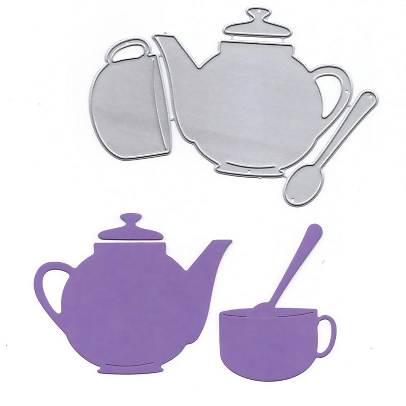 Teapot And Teacup DIY Die Embossing Carbon Steelcutting Die Scrapbook Paper Album Paper Decoration Stencils Template