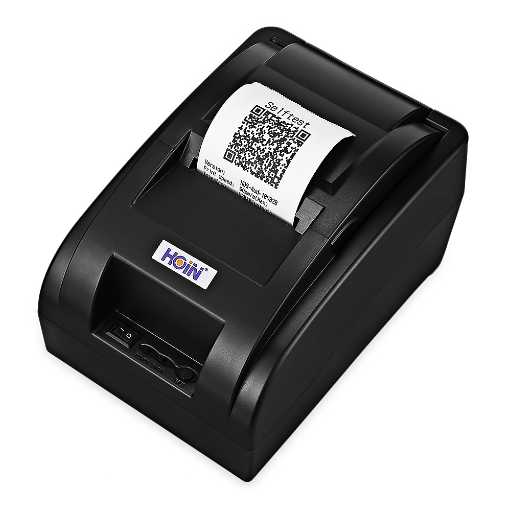 HOIN HOP - H58 58mm USB Thermal Receipt Printer Bluetooth Wireless / USB Wired Version Support Voice Prompt For RestaurantsHOIN HOP - H58 58mm USB Thermal Receipt Printer Bluetooth Wireless / USB Wired Version Support Voice Prompt For Restaurants
