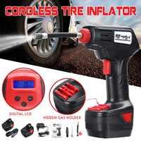 Car Air Compressor 12V Cordless Inflator Pump Portable Hand Held Pump Digital LCD Electric Compressor for Bicycle Vehicle Car