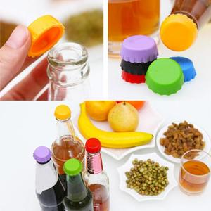 6Pcs/set Beer Bottle Cap Silicone Leak Free Wine Bottle Sealer Stopper non-toxic Sealing Beverage Bottle Cap Kitchen Tool