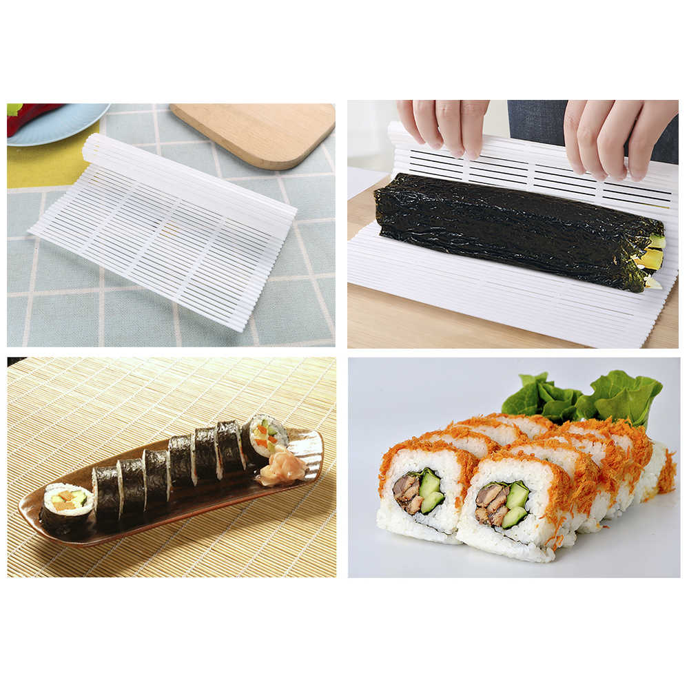 Praktische Sushi Rollen Roller Kunststoff Mat Maker Küch 4HUE