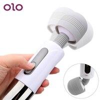 OLO Vibrator Magic Wand AV Stick Orgasm Squirt Massage Sex Toys for Women Clitoris Stimulate Lightning Massager G spot
