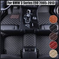 Car Leather Front Rear Floor Mats Set Liner Waterproof 5 Seat Mat For BMW 3 Series E90 2005 2006 2007 2008 2009 2010 2011 2013