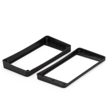 A Pair of  Black Curved Neck&Bridge Humbucker Pickup Frame Mounting Rings for LP Guitar Parts Accessories