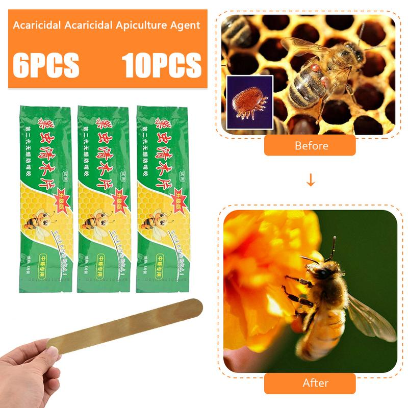 6/10Strip/Pack 40mg/ Strip Professional Acaricide Bee Mite Strip Beekeeping Strips Against Varroa Mite Killer Pest Control Strip