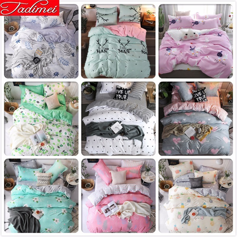 Adult Kids Child Soft Cotton Duvet Cover Bedding Set Single Twin Queen King Size Sheet Pillowcase Bed Linen Quilt Comforter Case
