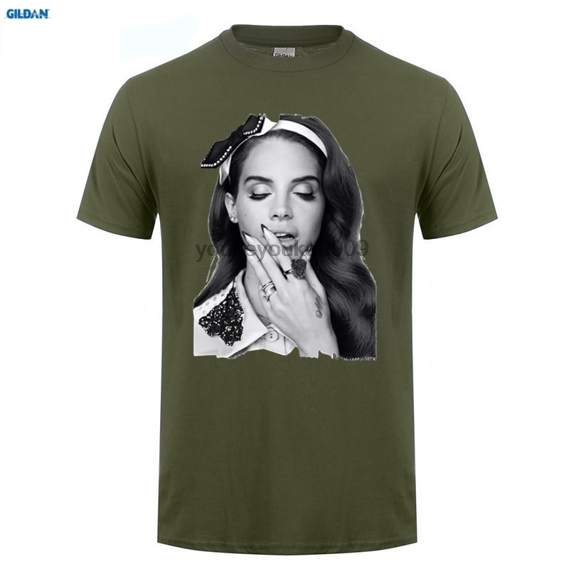 GILDAN Oversize Style Tee Shirts Styles Crew Neck Short Lana Del Rey Printing Mens Shirt in T Shirts from Men 39 s Clothing