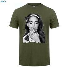 GILDAN  Oversize Style Tee Shirts Styles Crew Neck Short Lana Del Rey Printing Mens Shirt