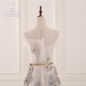 Image 3 - Jusere 2018 Cổ Phiếu Giá Rẻ Ảo Giác Đính Hạt Sàn Chiều Dài Váy Đầm Dạ Pleat Lệch Vai MỘT Đường Vũ Hội Đảng Bầu