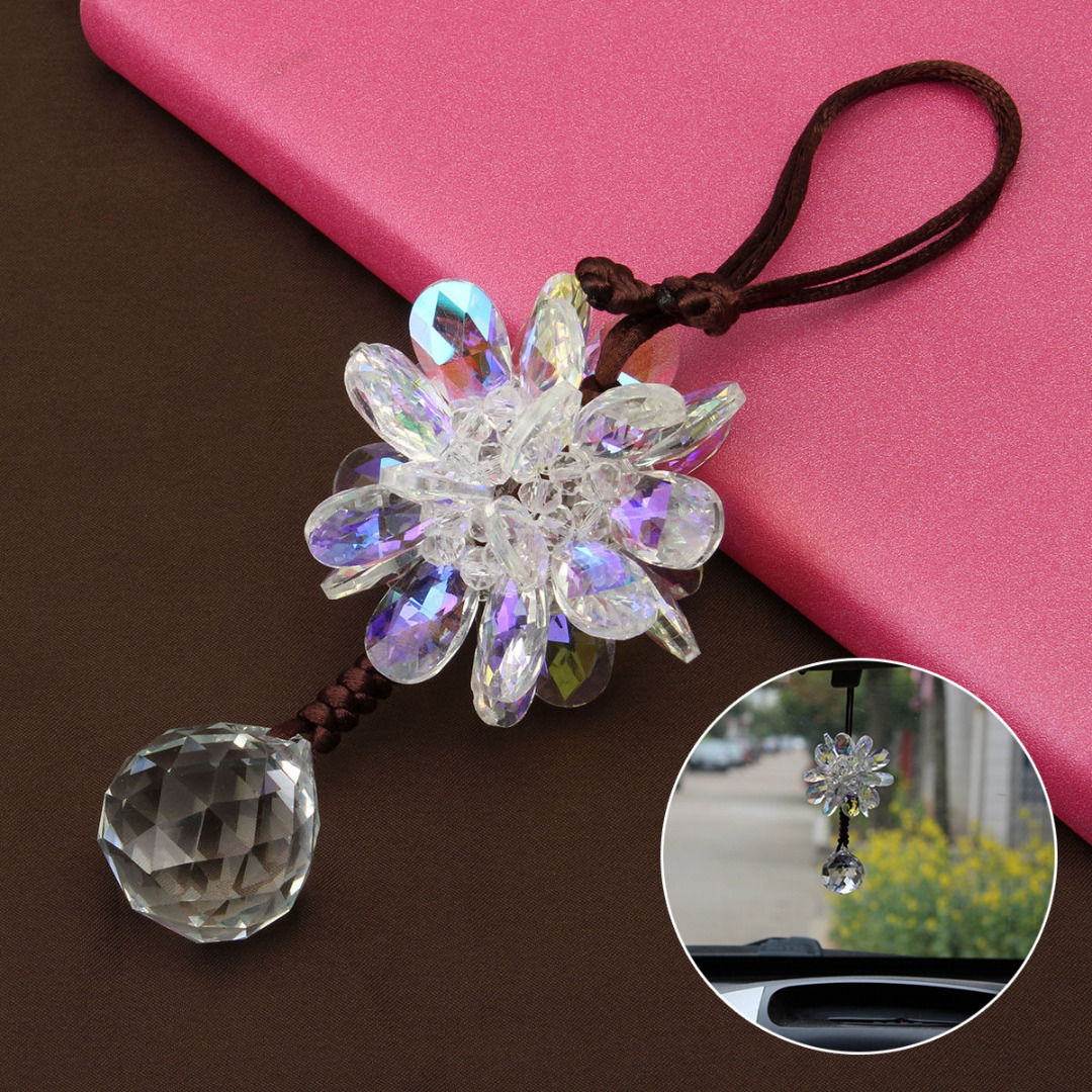 30mm Fashion Hanging Suncatcher Crystal Ball Prism Rainbow Feng Shui Pendants Car Mirror